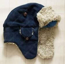 NWT Gap Kids Boys Navy Faux Fur Sherpa Trapper Winter Hat Size S/M & L/XL