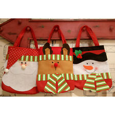 Fashion Merry Christmas Santa Claus Snowman Stocking  Candy Gift Bag Pouch Xmas
