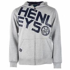 Henleys Men's Slope Full Zip Hoody Hoodie Grey Marl