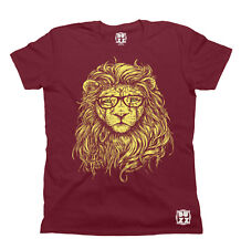 Hipster Lion Specs T-Shirt Unisex Mens Ladies HIPSTER Trendy