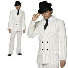 American Gangster Costume White Al Capone Mens Fancy Dress Outfit