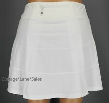 NEW LULULEMON Pace Rival Skirt TALL 2 8 12 White NWT Run Tennis Golf FREE SHIP
