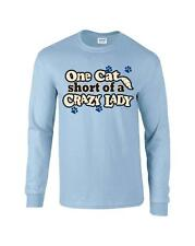 Funny One Cat Short Of A Crazy Lady Kitty Kitten Long Sleeve T-Shirt