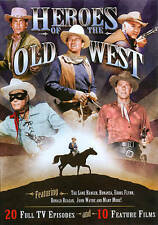 Heroes of the Old West DVD, 4-Disc Set 20 Full TV Episodes, 10 Feature Films NEW