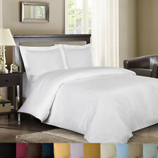 Luxury 8-PC Bed in a Bag Striped 600 TC Down Alternative Comforter 100% Cotton