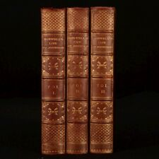 1900 3vol The Life of Samuel Johnson James Boswell Fine Binding Biography