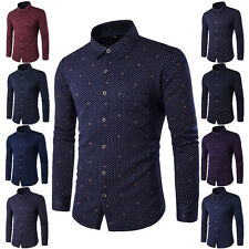 New Stylish Men's Long Sleeve Slim Fit Warm Thicken Dress Business Formal Shirts