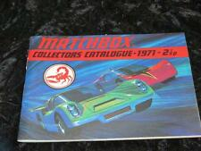COLLECTABLE MATCHBOX SUPERFAST Collector's Catalogue 1971 MINT