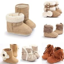 Newborn Toddler Moccasin  Infant Baby Girl Boy Shoes Soft Sole Shoes Snow Boots