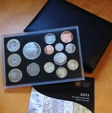 2011 Royal Mint 14 Coin Proof Set / Black Deluxe Case