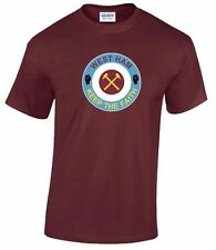 WEST HAM T SHIRT MOORE HAMMERS FOREVER BLOWING BUBBLES BOLEYN GROUND IRONS