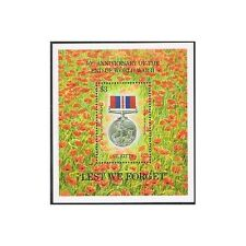 St Kitts 393,MNH.Michel 402 Bl.13. End of WW II,50th Ann.1995.War Medal.Flowers.
