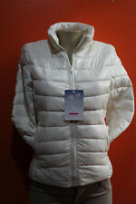 New Ambiance goose down filled bubble down puffer off white  jacket-size SML
