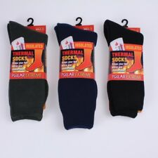 Polar Extreme Insulated Thermal Socks Mens Solid Dark Colors Sock Size 10-13