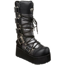 "DEMONIA TRASHVILLE-519 Men's 3 1/4"" Platform Goth Punk Lace Up Calf Boots"
