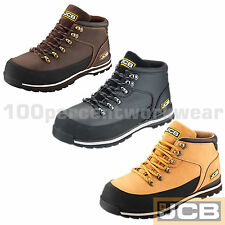 JCB 3CX Mens Safety Work Boots Waterproof Leather Steel Toe Cap Midsole Wide Fit