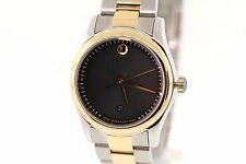 Ladies Movado 0606484 SPORTIVO Two-Tone Stainless Steel Black Dial Watch