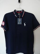 NWT POLO RALPH LAUREN USA OLYMPIC TEAM 2016 POLO SHIRT FITTED FRENCH NAVY $125+