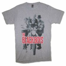 The Beach Boys Shady Moto Mens Charcoal T Shirt New Official Adult
