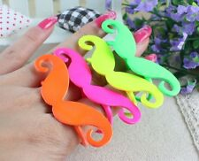 Cute Cosplay Moustache Handlebar Two Fingers Double Finger Ring #8.5 #8