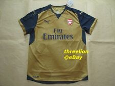 BNWT Puma 2015/16 ARSENAL Gunners Away Gold Soccer Jersey Football Shirt Trikot