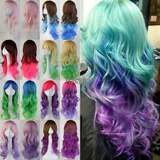US Ship Halloween Anime Costume Cosplay Full Wig 20Colors Synthetic Hair Wigs g5