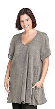 Flax Designs Relaxed Pullover  Tunic NWT     Smoke Gauze  Oversized