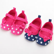 TODDLER INFANT BABY GIRLS BOWKNOT SHOES WALKING PREWALKER CRIB PRAM DRESS SHOES
