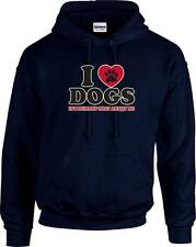 Funny I Love Dogs It's Humans That Annoy Me Dog Paw Hooded Hoodie Sweatshirt