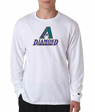 Arizona Diamondbacks Throwback Champion LONG SLEEVE T-Shirt Tagless T Shirt Mens