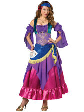 Elite Gypsy Treasure Fortune Teller Adult Womens Dress Costume NEW Circus