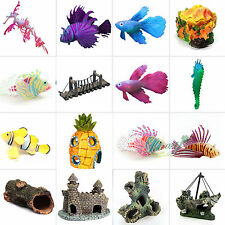 Artificial Cave Resin Landscape Fish Tank Aquarium Scenery Ornament Decoration