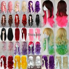 "New Long Lady Costume Hair 23/32/40"" Wavy Curly Cosplay Wigs Full Wig Women Wigs"