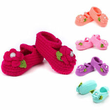 Handmade Newborn baby BOY Girl Crochet Knit Socks Flower Toddler Cartoon Shoes