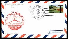 DALLAS FT WORTH TX JUL 19 1985 AA TO COLORADO SPRINGS CO COVER