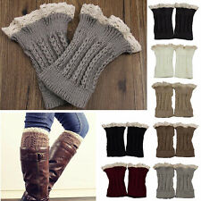 Warmers Fashion Womens Crochet Knit Lace Trim Leg Cuffs Toppers Boot Socks
