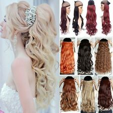 100% Real Natural One Piece Clip in Hair Extensions Real Thick As Human Hair Tgc