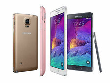 """Unlocked 5.7"""" Samsung Galaxy Note 4 4G LTE Android GSM Smartphone 32GB CAON"""