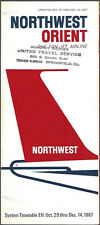 Northwest Orient Airlines system timetable 10/29/67 [6104]