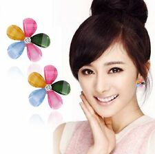 Beautifl Flower Crystal Rhinestone Earrings Ear Studs Pairs Women Girls Jewelry
