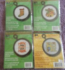 CHOOSE ONE: STUDIO18 MARY ENGELBREIT MINI COUNTED CROSS STITCH KITS WITH FRAMES