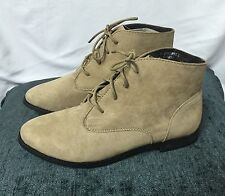 Ex DOROTHY PERKINS DESERT SAND SUEDE CASUAL LACE UP ANKLE SHOES/BOOTS