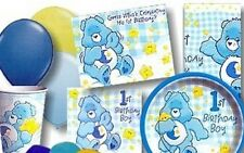 Care Bears Boy 1st Birthday Party Supplies-Plates-Cups-Napkins-Candles-Centerpie