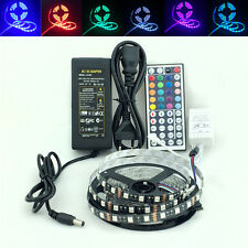 PCB Black 1~5M 5050 RGB Non-waterproof LED Strip Light+12V 2A/5A +Mini/24/44Key
