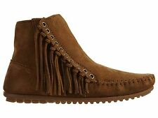 Minnetonka Willow Boot Womens 663 Brown Suede Fringe Boots Booties Shoes Size 10