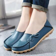 Fashion Women Knot Leather Shoes Casual  Slip On Flats Loafers Single Shoes Hot