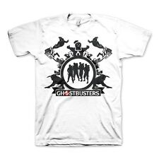 Official Mens Retro Ghostbusters Team White T-Shirt Tee - 80's Movie Funny Cool