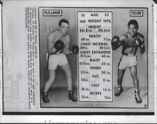 1963 Press Photo Gene Fullmer and Dick Tiger-Information of Boxers to Fight
