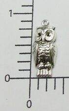 35754       4 Pc Matte Silver Oxidized Small Owl Jewelry Finding Charm