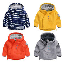 Toddler Baby Boys outerwear Hooded Inclined zipper coat Kids Boy Jacket Clothes